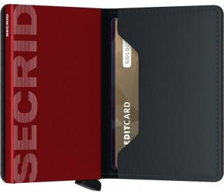 SLIMWALLET SECRID MATTE BLACK & RED