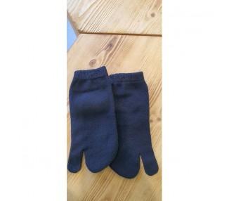 Kotníkové palcové ponožky - černé