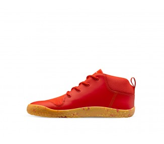 VIVOBAREFOOT PRIMUS BOOTIE II ALL WEATHER JUNIORS FIERY CORAL