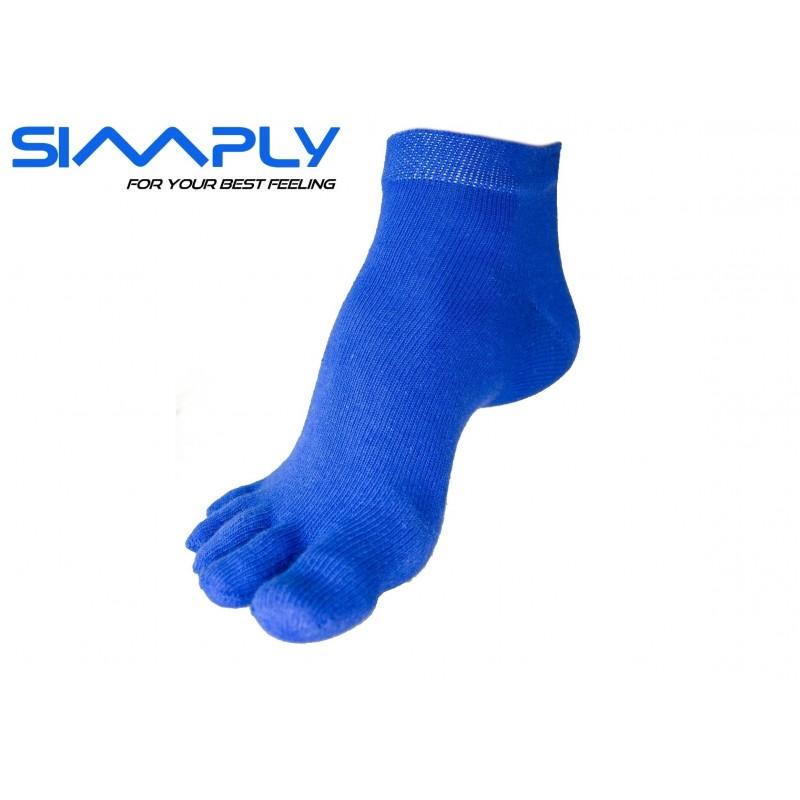 Anatomické prstové ponožky Simply - Modré