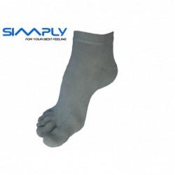 Anatomické prstové ponožky Simply - Šedé