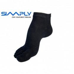 Anatomické prstové ponožky Simply - Černé