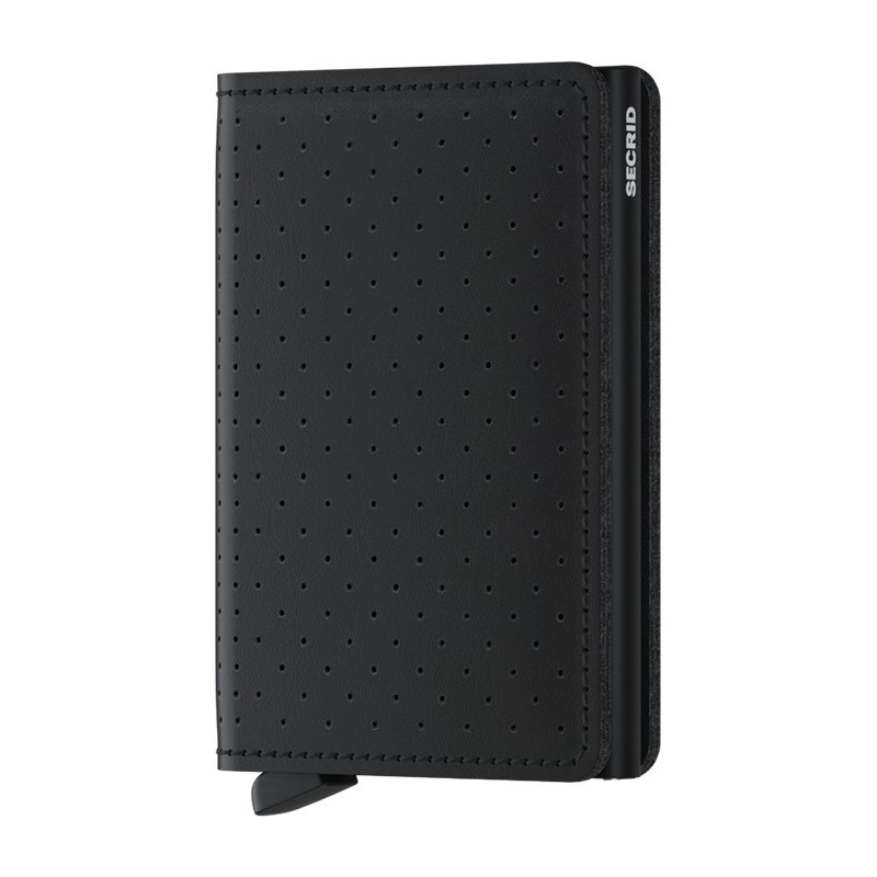 SLIMWALLET SECRID PERFORATED Black